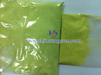 yellow tungsten powder oxide sample picture